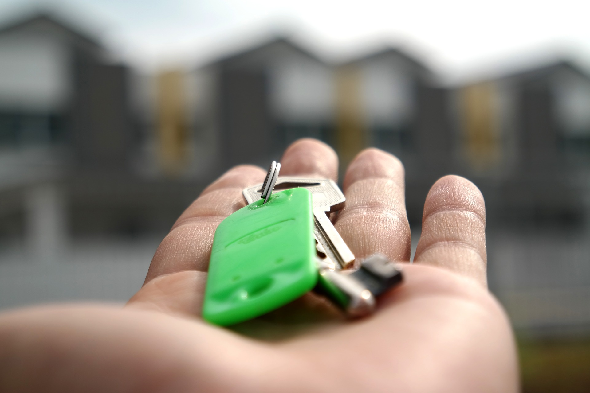 Keys to new property in hand