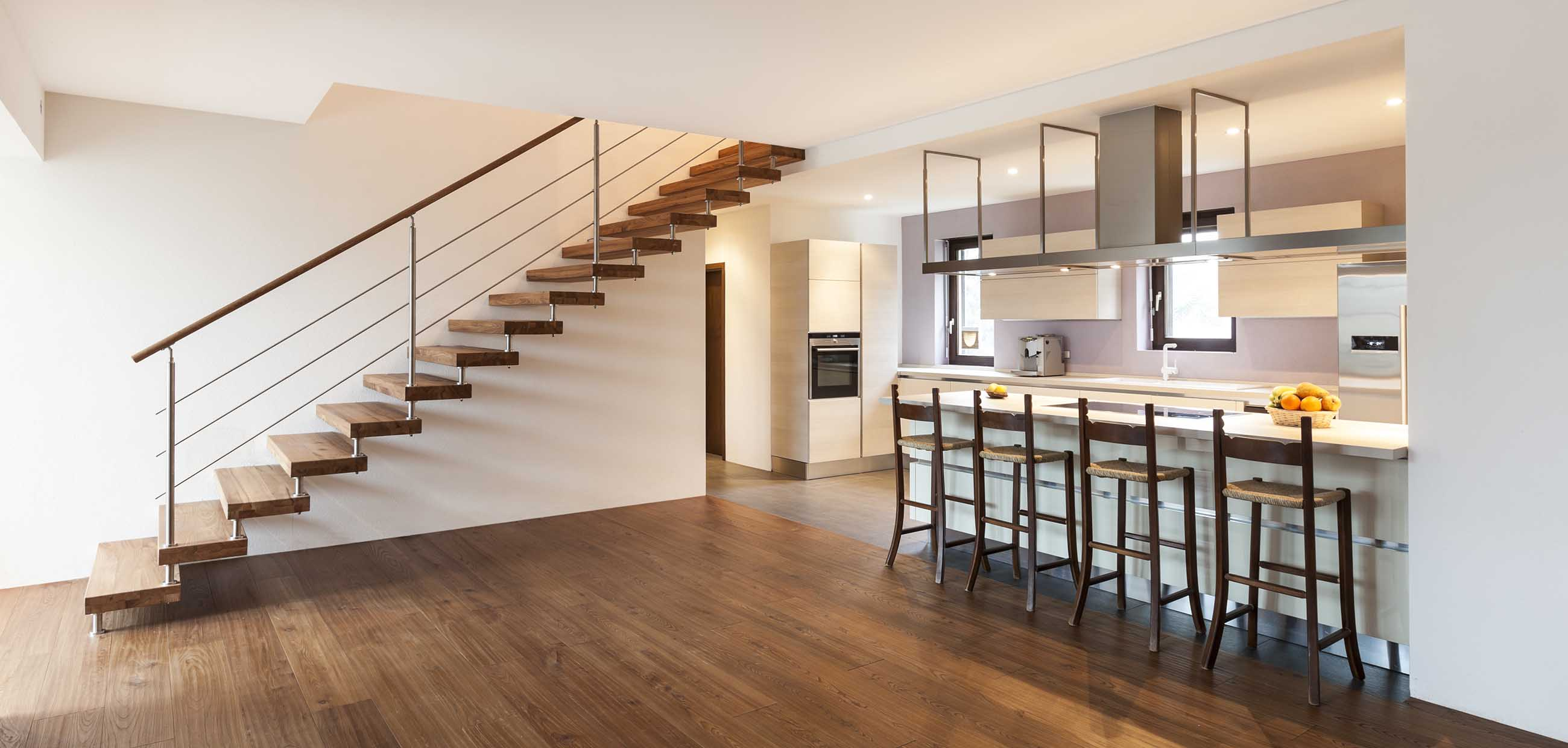 Cambridge Letting Agency- fabulous kitchen counter and stairs
